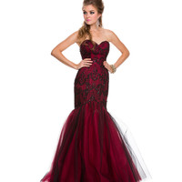 2014 Prom Dresses - Black & Red Knoxville Mermaid Gown