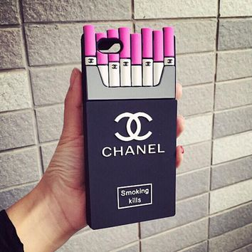 Chanel Fashion Personality Cigarette iPhone Phone Cover Case For iphone 6 6s 6plus 6s-plus 7 7plus