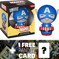 Captain America: Funko Dorbz x Marvel Universe Mini Vinyl Figure + 1 FREE Official Marvel Trading Card Bundle [59507]