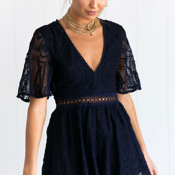 ROMARE PLAYSUIT (NAVY)