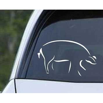 Pig (ver b) Die Cut Vinyl Decal Sticker