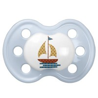 Nautical Sailboat Pacifier from Zazzle.com