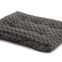 "MidWest Quiet Time Gray Ombre Swirl Dog Bed 21"" x 12"""