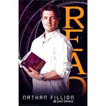 Nathan Fillion Read Castle poster Metal Sign Wall Art 8in x 12in