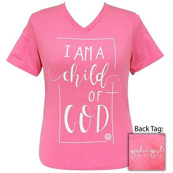 Girlie Girl Originals Preppy Child Of God V-Neck T-Shirt