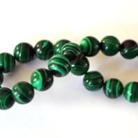 Green Malachite Round Smooth Beads 8mm