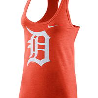 Nike Detroit Tigers Womens Orange Tri-Blend Tank Top