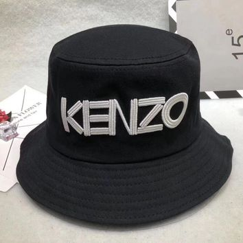 aa9f6f201d5 kenzo unisex all match casual letter bucket hat fisherman cap couple  fashion sun hat