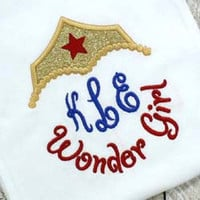Wonder Woman Inspired Monogram Phrase - Custom Tee