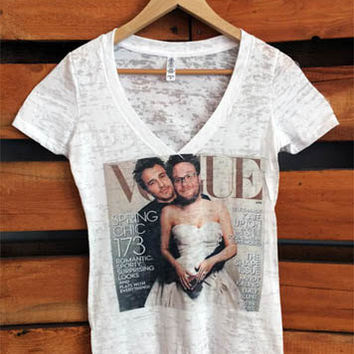James Franco Seth Rogen Bound 3 Vogue Cover White Crew Neck T-shirt.