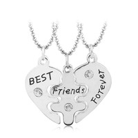 3 pcs Best Friends Forever Necklaces