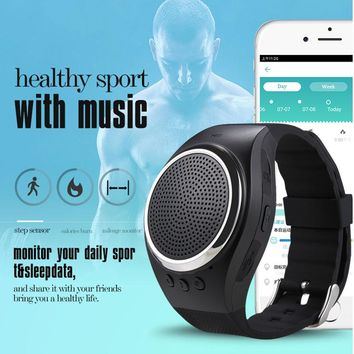 Bluetooth Smart Watch RS09 Sport Lover Watch Support Anti-Lost Alarm TF Card FM Radio Music Speaker Hands-free Call LL