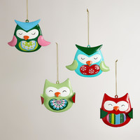 Glass Owl Ornaments, Set of 4 - World Market