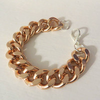 Chunky Rose Gold Chain Bracelet