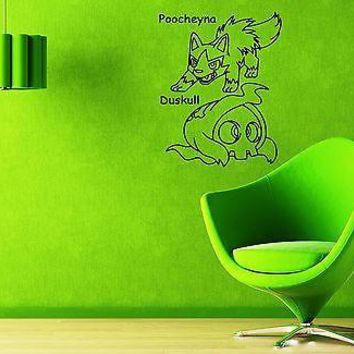 Wall Stickers Vinyl Decal Pokemon Poochyena Anime Cartoon Baby Nursery (ig1109)
