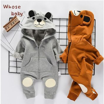 2018 Spring Baby Girl Clothes Newborn Boys Romper Cute Bear Clothes For Children Infant Girls Jump Suit Baby Boy Body Suits