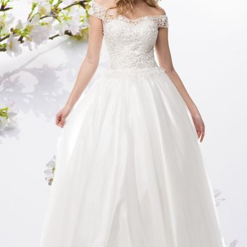 Off the shoulder Ball Gown wedding dress BC#CCW61232