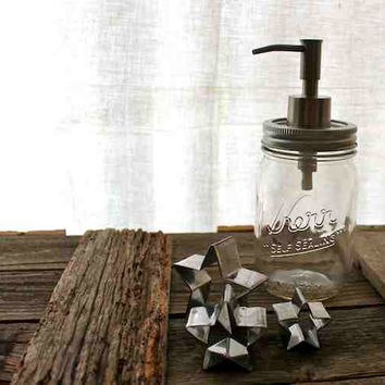 "Eco-Favorable Mason Jar Soap Dispenser (16oz) ""Ester"""