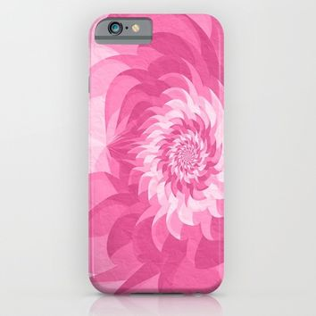 Surreal pink flower iPhone & iPod Case by Natalia Bykova