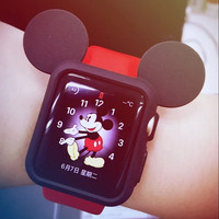 apple iwatch case Cute 38mm 42mm available black silicone case base case for Diy Kits apple watch decals
