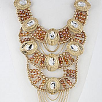 Formal Statement Necklace W/matching earrings
