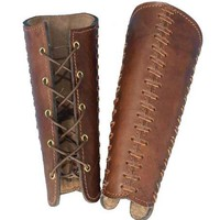 Squire Bracers - Brown - LARP Inn: Costume | Props | Make-up | Armour | Elf Ears | Weapons