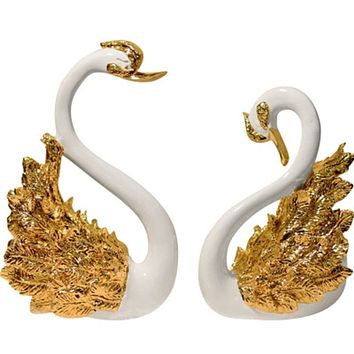 Pair Of Swan Ideal Gifts for Home Living Room Study and Bedroom