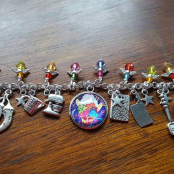 Chef / cooking lisa frank inspired charm bracelet