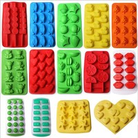 DIY Creative Ice Cube Mold Silicone Ice Tray Fruit Ice Cube Maker For Bar or Kitchen