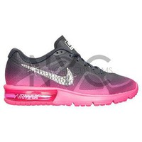 Blinged Womens Nike Air Max Sequent Running Shoes Pink Grey Blinged Out With Swarovski