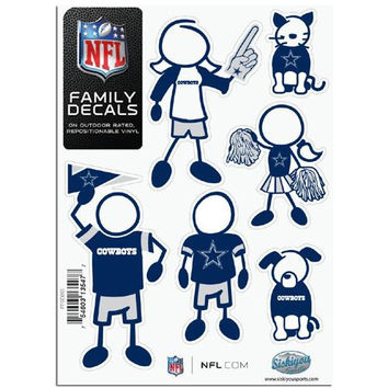 Dallas Cowboys NFL Family Car Decal Set (Small)