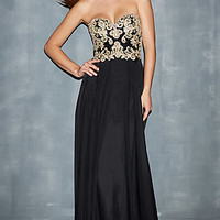 Strapless Sweetheart Bodice Gown by Night Moves