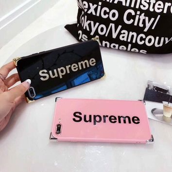 Supreme Luxury logo NEW hit 2017 Mirror Case Cover for Iphone 7 TPU plastic