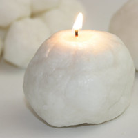 Glistening Snowball Candle, Highly Scented in Jack Frost, Peppermint Scented
