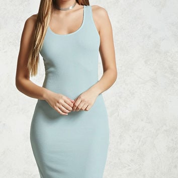 Waffle-Knit Bodycon Dress