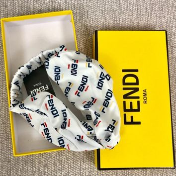 Fendi Small letters crossed Hairband