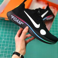 Off White X Nike Zoom Fly Mercurial Flyknit Black Ao2115-001 Sport Running Shoes - Best Online Sale
