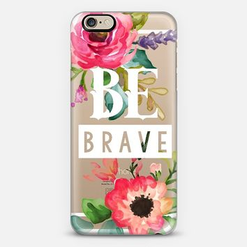 Be Brave Watercolor Floral iPhone 6 case by Jande La'ulu | Casetify
