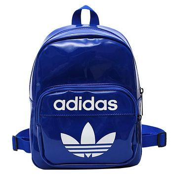 ADIDAS wild casual men and women backpack Blue