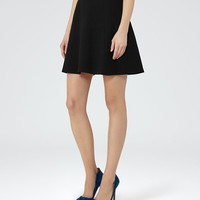Joanie Black A-Line Mini Skirt - REISS