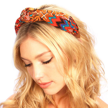 Navajo Aztec Knot Turban Headband Hat Festival Headpiece Spring Hair Accessories