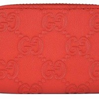 Gucci Guccissima Leather Mini Wallet Zip Around Coin Purse Wallet 324801