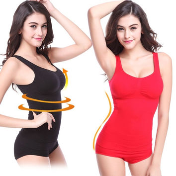 B.BANG Women Waist Training Corsets Slimming Bodybuilding Yoga Top Fitness Sports Underwear Sponge Padded Shapewear Tops Push-up Tank = 1929866180