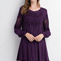 Cool Girls Long Sleeve Lace Dress