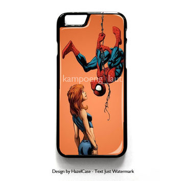 Marvel Mary Jane Watson Spiderman for iPhone 4 4S 5 5S 5C 6 6 Plus , iPod Touch 4 5  , Samsung Galaxy S3 S4 S5 Note 3 Note 4 , and HTC One X M7 M8 Case Cover