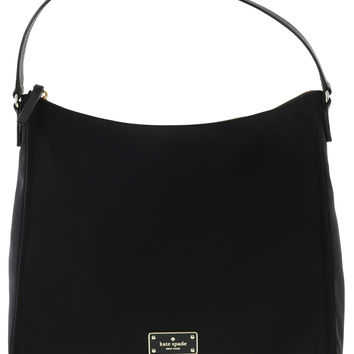 Kate Spade New York Blake Avenue Justyne Nylon Handbag Purse (Black)