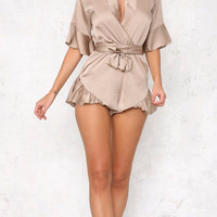 Joane Satin Playsuit