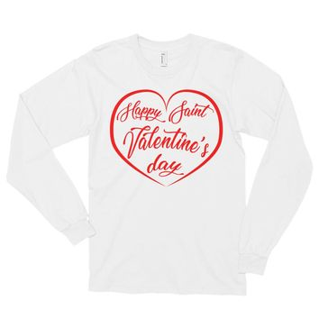 Happy Valentine's Day Long sleeve T-shirt for Him or Her