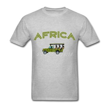 New Brand Mens T Shirt Popular African Safari Tee Tops Latest Short Sleeve Man Clothing Plus Size