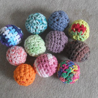 Crochet Play Balls: Kids Cats Juggling anti-stress from recycled mesh (choose 2)